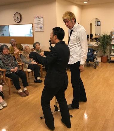 名古屋お笑い芸人 ファニーチャップ 老人ホームで漫才