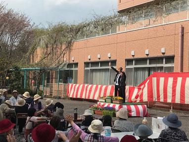 名古屋お笑い芸人 ファニーチャップ 桜まつりで漫才