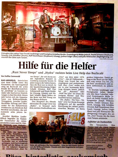 Bericht in der Hersfelder Zeitung (von Steffen Sennewald)