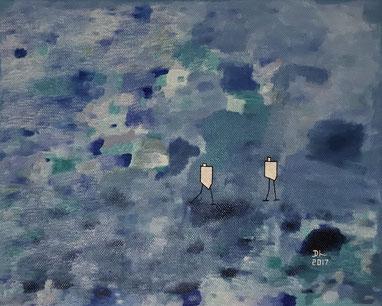 gegenwind by dhin. 2017. oil on canvas. 30x24.