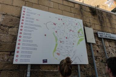 Stadtplan von Bari's Altstadt