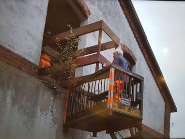 Bergung des Stockbettes in Mellendorf
