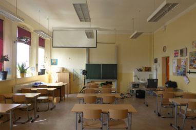 Blick in den Klassenraum, in dem die Tonaufzeichnung entstand