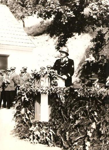 Ein Foto der 50er Jubiläumsfeier der FF Klingfurth