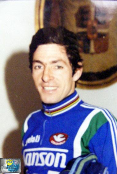 Foto courtesy: Archivio AVL, Francesco Moser in ritiro a Laigueglia la vigilia del Trofeo Laigueglia.