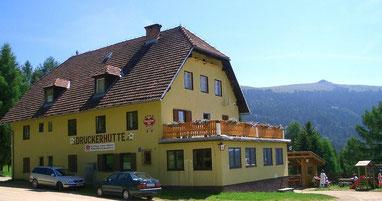 Die Druckerhütte im Wandergebiet der Saualpe in der Gemeinde Eberstein