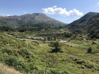 Auffahrt zum Col d'Agnes