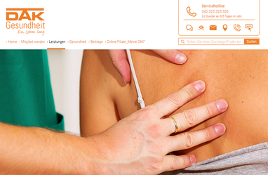 DAK Gesundheit Krankenkasse - Osteopathie: Heilung mit den Händen