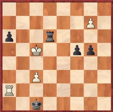 Sailer - Mauelshagen: Mit 50. ... c3!! zauberte Schwarz hier einen sehenswerten Schlußzug aufs Brett, nach den folgenden 51. bxc3 und Txc3 gab Weiß auf