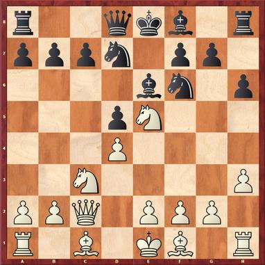Margenberg - Pfennig,M: Hier zog Volker 9.f4?? und hinterließ einen Haufen schwarzer Felderschwächen im eigenen Lager (e3, f2, g3, h4), die Schwarz jedoch nicht konsequent genug ausnutzte. 9. ... Lb4! (nebst Se4 & Dh4) wäre sehr unangenehm geworden