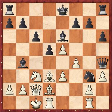 Margenberg - Pfennig,M: Nach 15. ... Dh5? verbaute Schwarz sich selber das letzte Rückzugsfeld und hatte nach 16.Le1! kein gutes Feld mehr für den Springer.