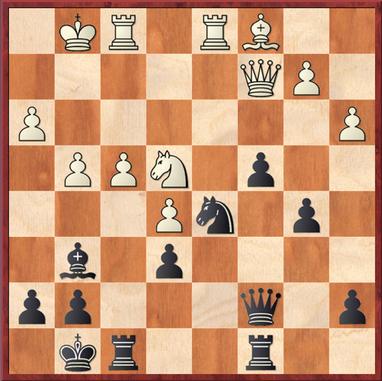 Sailer - Mauelshagen: Aufgrund eines Rechenfehlers spielte Schwarz hier 24. ... Db6+ 25. Kh2 Se3 26. Lxe3 Dxe3 27. Tde1 Lxe4 28. Dxe4 (das hatte Schwarz übersehen). Deutlich besser waren 24. ... Dc6 und 24. ... c3 mit jeweils großem schwarzen Vorteil