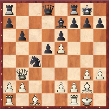 Straßner - Schymainski: Hier spielte Weiß das starke 18.e4! um das Zentrum zu öffnen und Raum für das Läuferpaar zu erhalten.