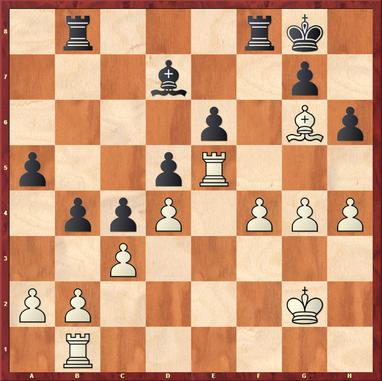Gottas - Vishanji,F: Hier zog Weiß 35.Kf3? und verlor in der Folge den f4 Bauern ersatzlos