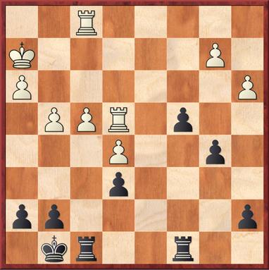 Sailer - Mauelshagen: Schwarz gewann nach 30. Kg3 Td2 31. Tf2 Tfd8 32. Kf3 T8d3+ 33. Te3 Txe3+ 34 Kxe3 Td3+ 35. Ke4 Txh3 einen Bauern