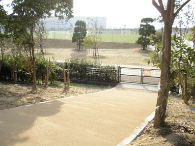 山陽小野田市 東沖緑地公園~県立おのだサッカー交流公園 歩道