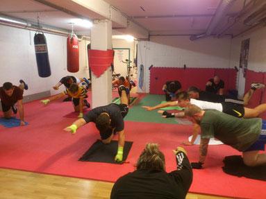 Fitnessboxen Gruppentraining bis 14 Pers., September 2019, M's-GYM BERN Ittigen
