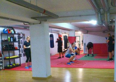 Gruppentraining Fitness & Boxen, August 2019, M's-Gym Bern Ittigen