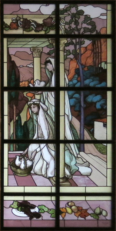 Stained glass window for private residence (1896)