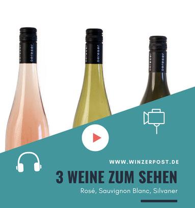 Online Weinprobe für Daheim mit Weinen vom Weingut Dereser - Rosé, Sauvignon Blanc, Silvaner