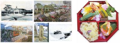 ずそう人車鉄道(左)と弁当イメージ(右)