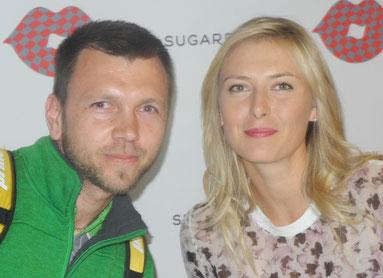 Sergej mit Maria Sharapova (ehemalige Nr. 1 der Weltrangliste)