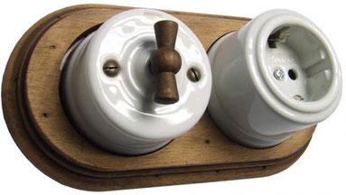 impianto #elettrico #superficie #a vista #rame #porcellana #ceramica #sandroshop