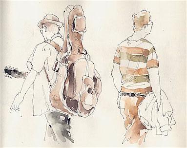 Grundlage des Zeichnen, Menschenzeichnen Kunstschule Düsseldorf