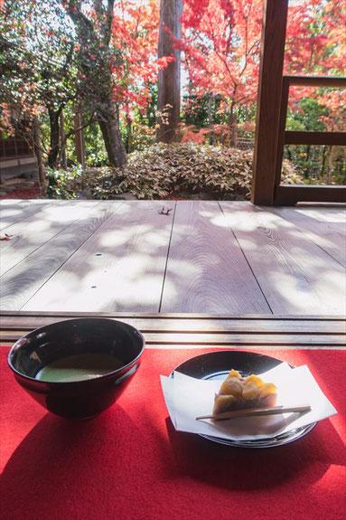 妙心寺塔頭大法院のお抹茶とお茶菓子