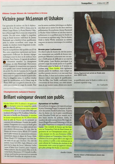 Magazine GymLife de juillet-août 2016