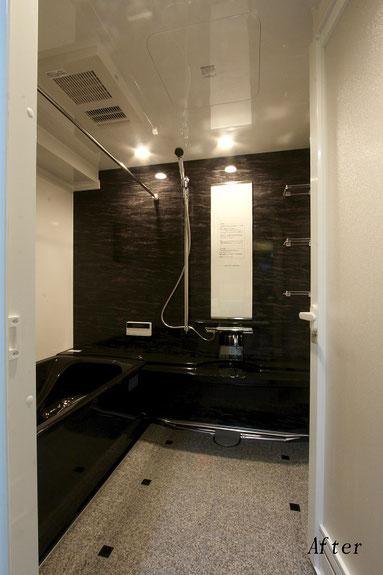 高級感のあるホーローのバスルーム(タカラ『ぴったりサイズ伸びの美浴室』)施工【福岡市中央区 K様邸】