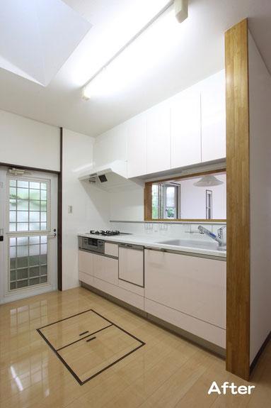 人工大理石のキッチンでいつも清潔で使いやすく【宗像市 T様邸】