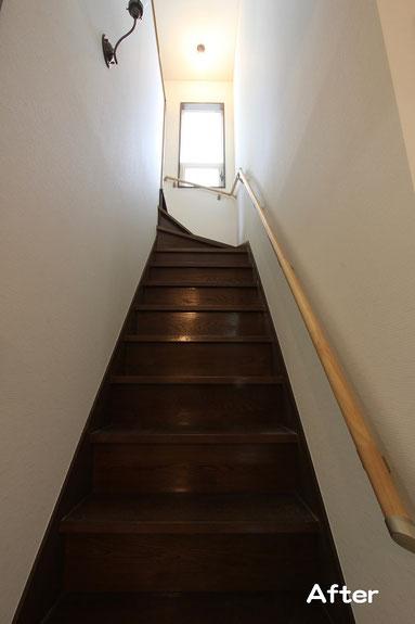 階段手すりを設置して転落・転倒を防止【宗像市 T様邸】