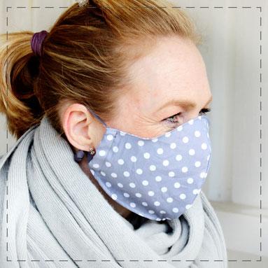 Maske Mundmaske Mund-Nasen-Maske Behelfsmaske Communitymaske Gesichtsabdeckung