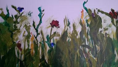 Titel :  Sommerwiese  120x6ocm