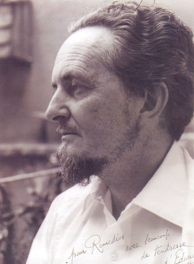 Edward James, foto dedicada a Remedios Varo (junio, 1956).