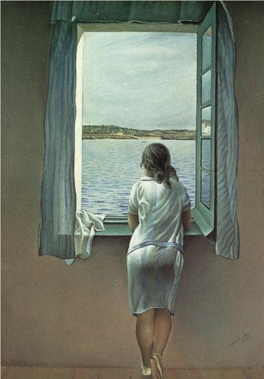 Сальвадор Дали - женская фигура у окна