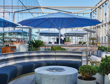may sonnenschirme in der gastronomie und im hotel sind beliebt bei allen gästen