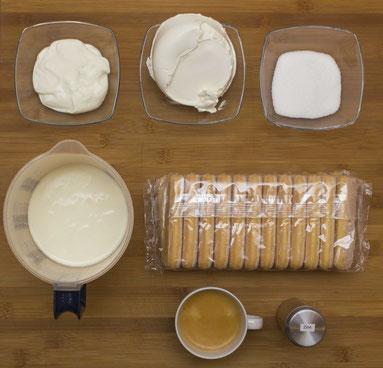 Zutaten für das Tiramisu-Rezept
