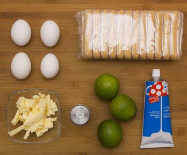 Zutaten für den Key Lime Pie