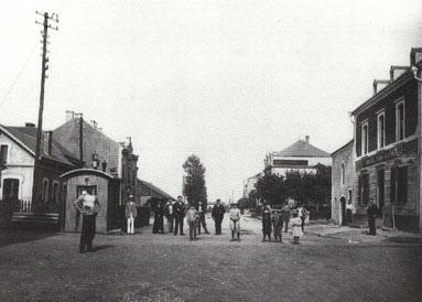 1905 - Luxemburgerstrasse - links der Bahnhof