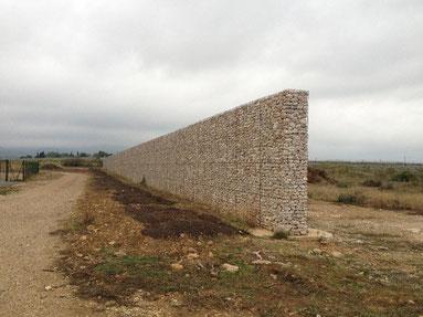 Mur anti-bruit en gabions, gabions pour un mur anti bruit