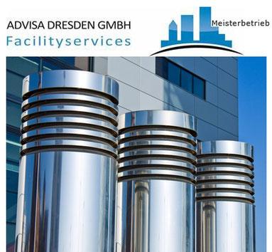 Klimakanal Gebäudeservice Dresden aus Edelstahl. Gebäudereiniger reinigen die Klimakanäle.