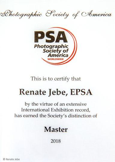 Renate Jebe Fotografie Photographic Society of America