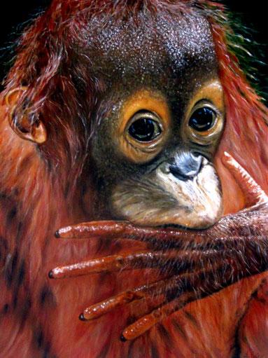 Ein kleiner Orang Uthan