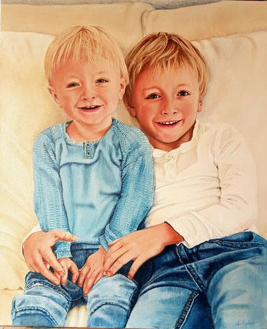 Brüder,  50x60 Acryl,  2016    Auftragsarbeit