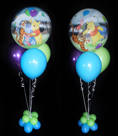 Bubble Ballon Luftballon Bouquet Winnie Pooh Helium Heliumballons Junge Geburtstag Überraschung Geschenk Kindergeburtstag