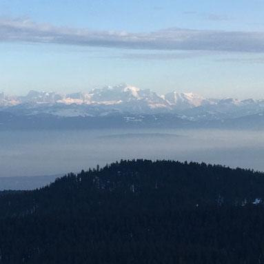 panorama sur les Alpes depuis le Mont Sala - rando