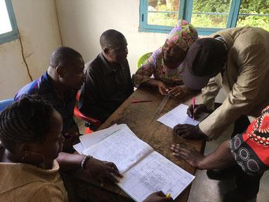 Treffen mit Vertreter*innen der Nyamongolo-Gemeinde, April 2021