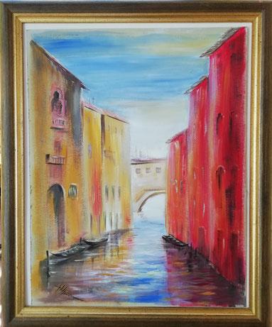 """Venedig""   Öl auf Karton 40x30"